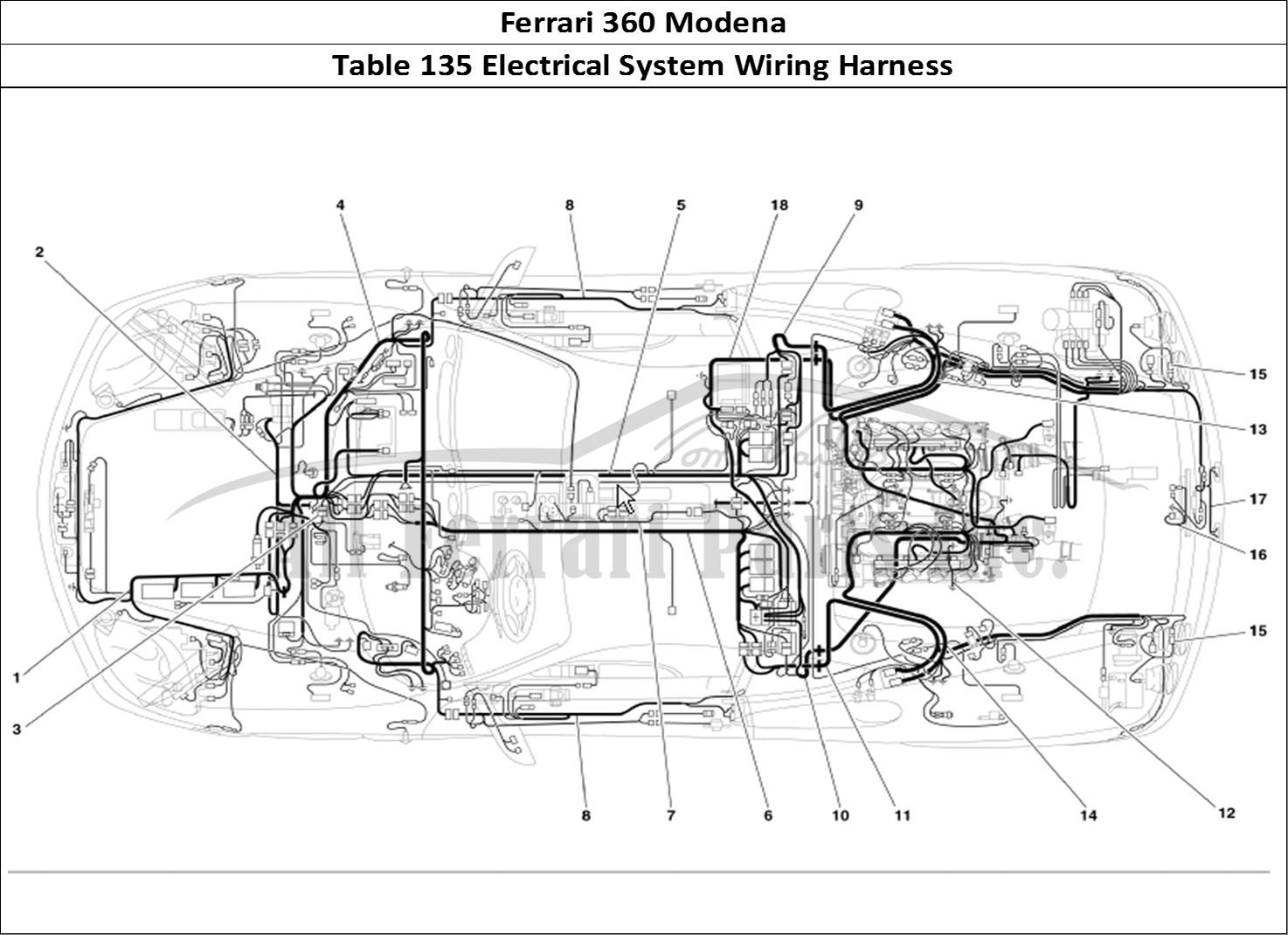 Buy Original Ferrari 360 Modena 135 Electrical System Wiring Harness Ferrari Parts Spares