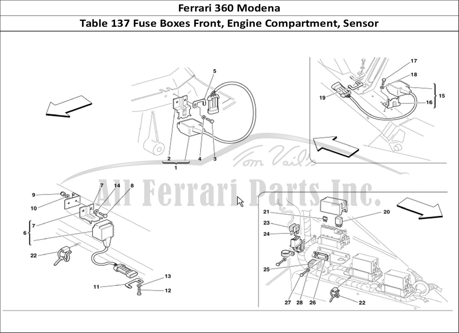 Buy Original Ferrari 360 Modena 137 Fuse Boxes Front Engine Compartment Sensor Ferrari Parts