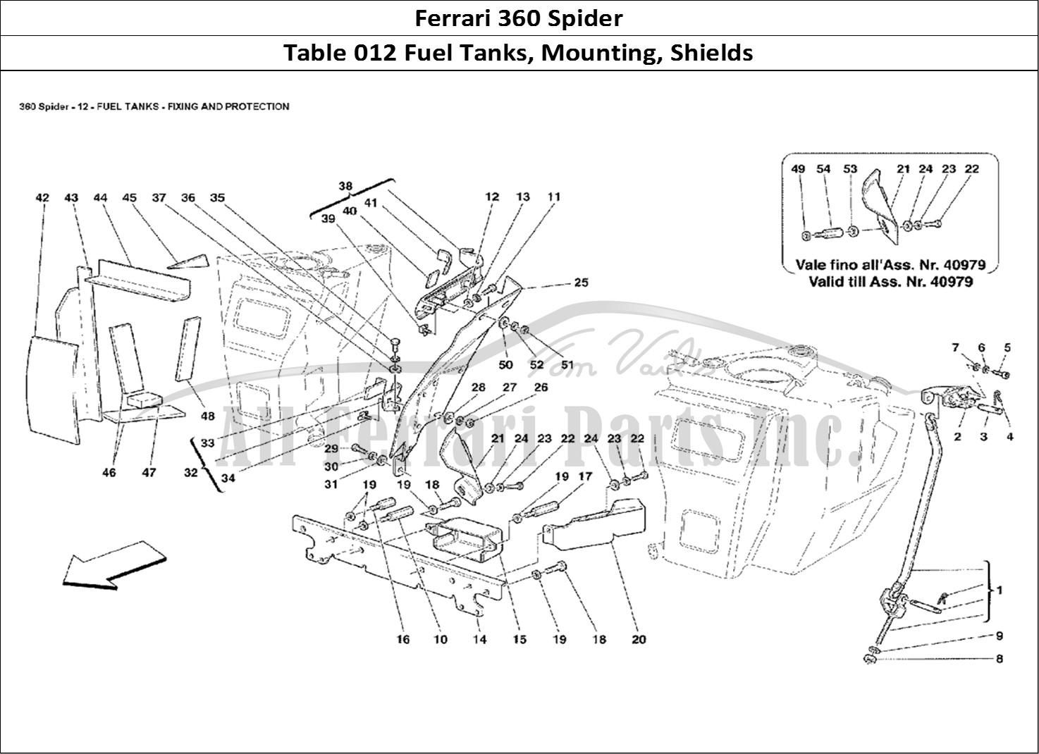 Buy Original Ferrari 360 Spider 012 Fuel Tanks Mounting