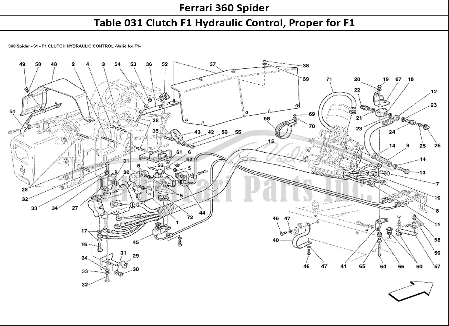 Buy Original Ferrari 360 Spider 031 Clutch F1 Hydraulic Control Proper For F1 Ferrari Parts