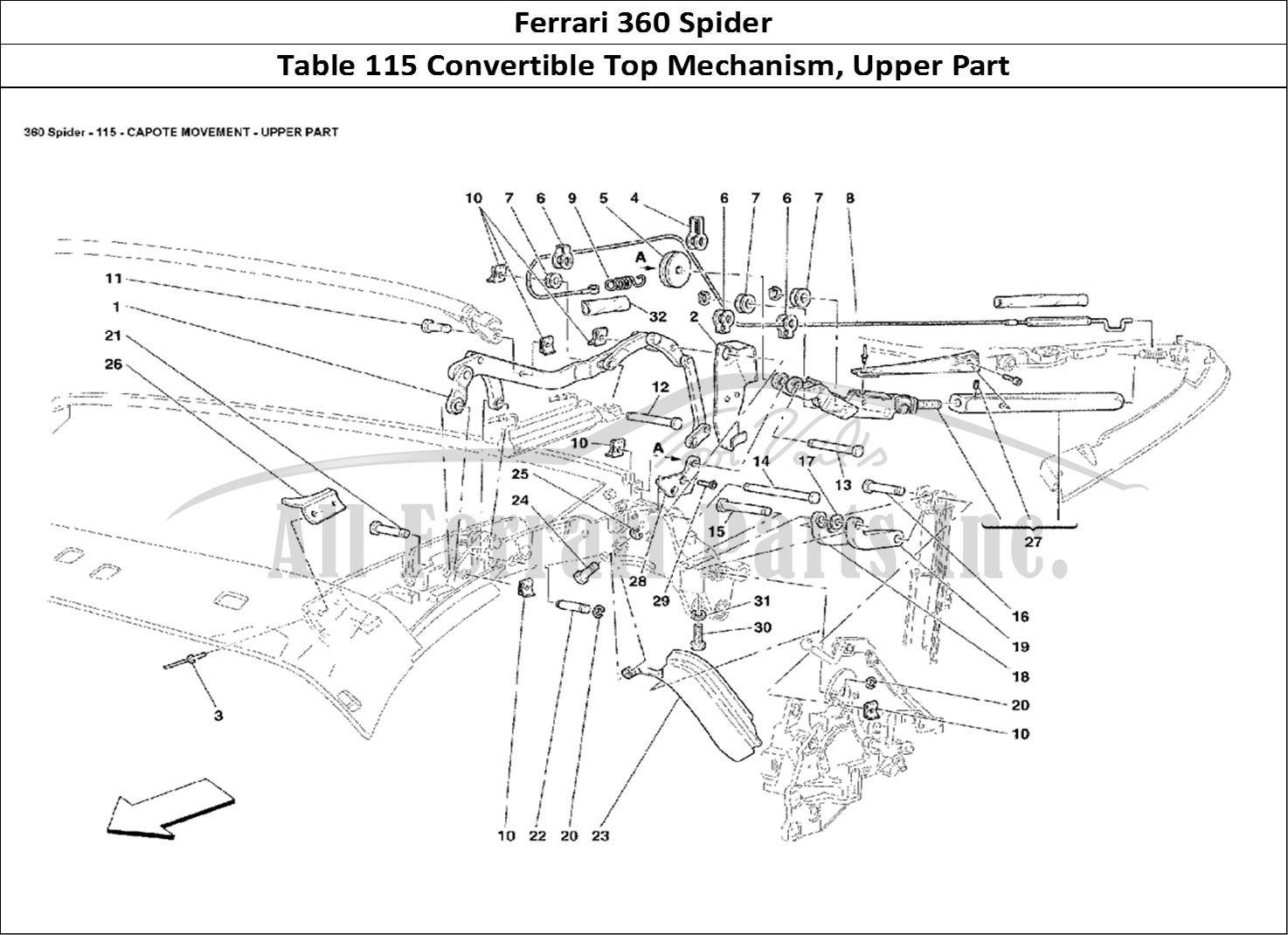 Buy Original Ferrari 360 Spider 115 Convertible Top