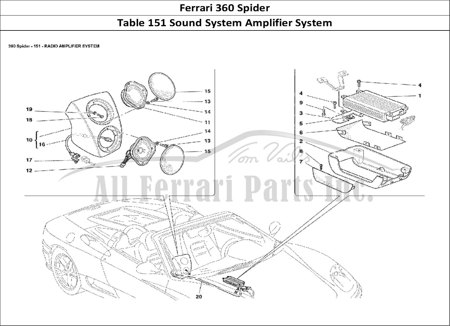 Buy Original Ferrari 360 Spider 151 Sound System Amplifier