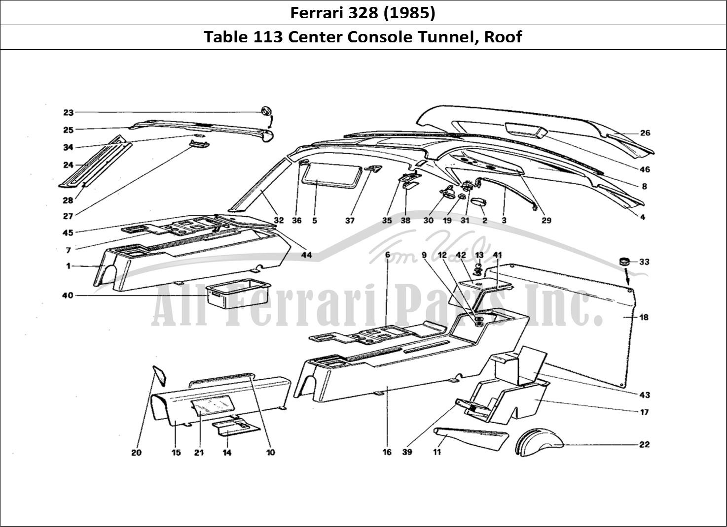 Buy Original Ferrari 328 113 Center Console Tunnel