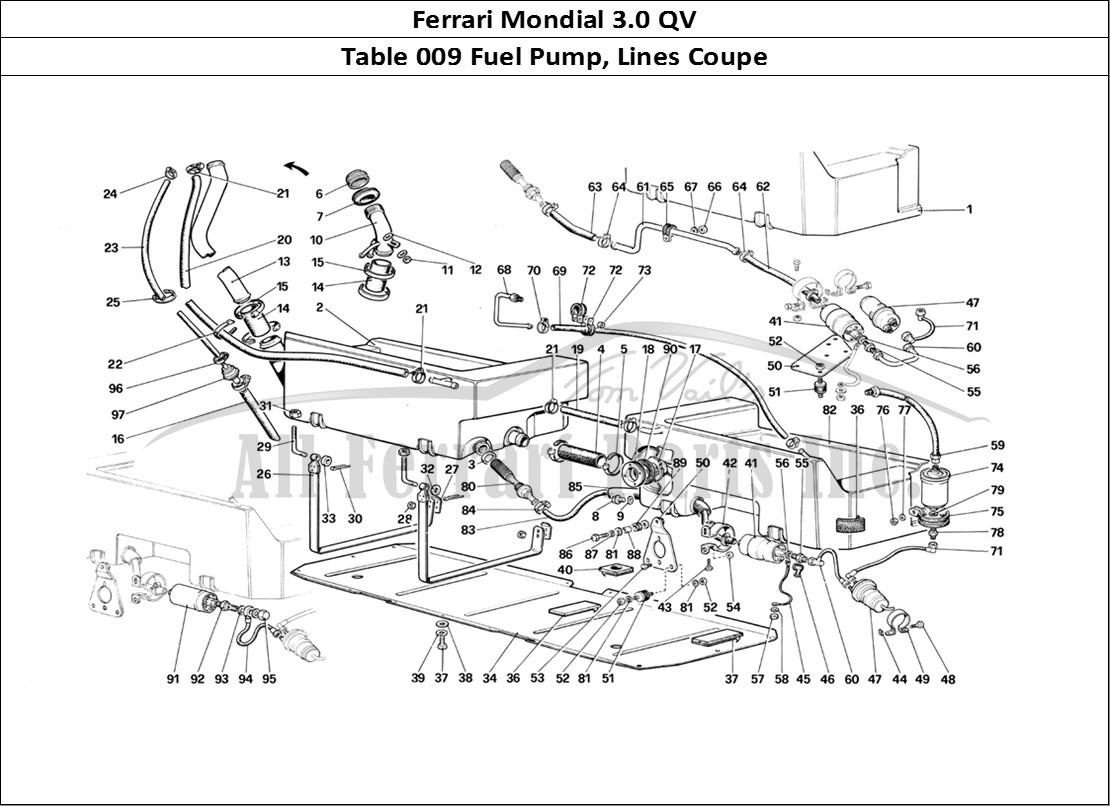 Buy Original Ferrari Mondial 3 0 Qv 009 Fuel Pump Lines