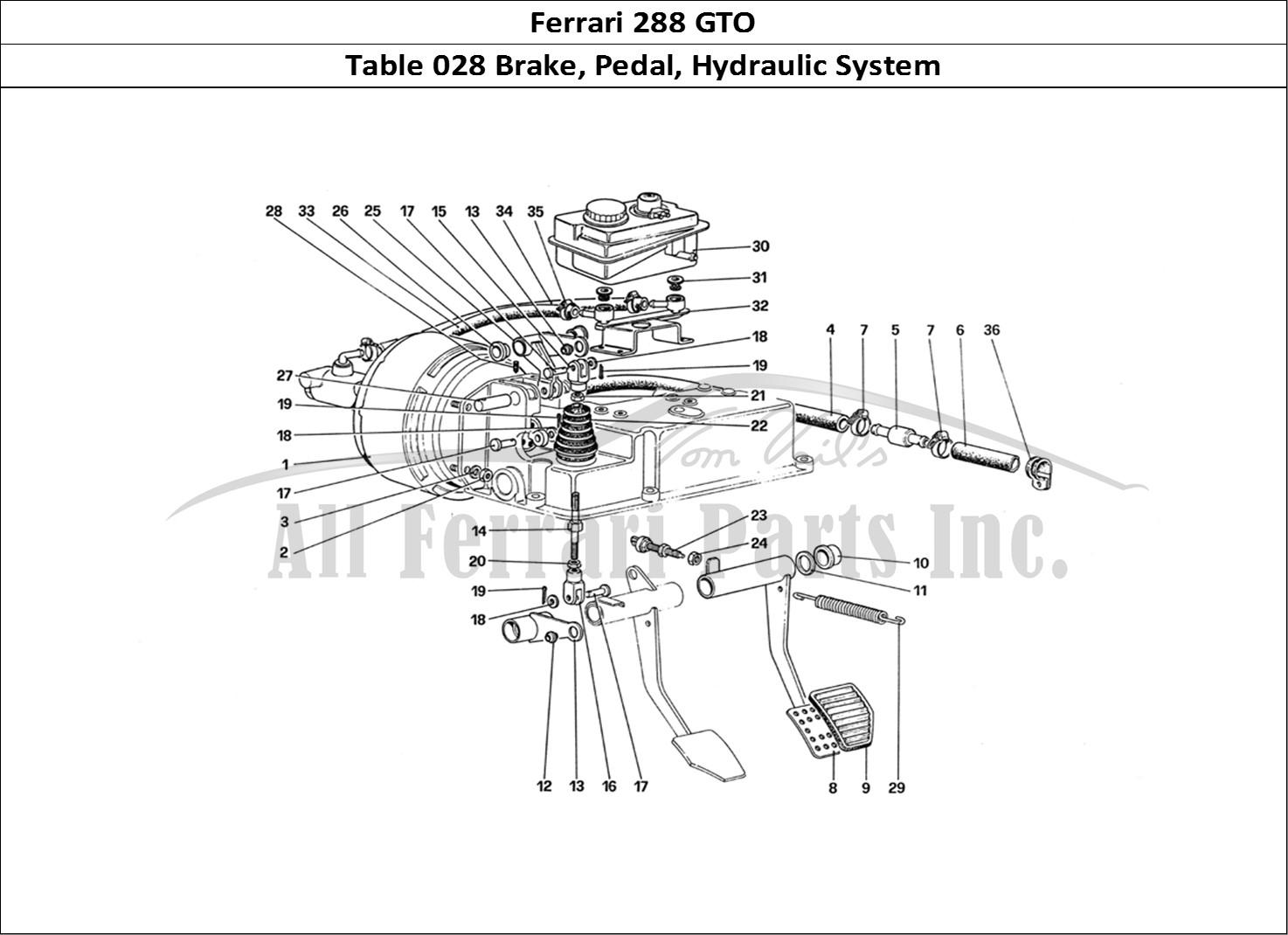 Buy Original Ferrari 288 Gto 028 Brake Pedal Hydraulic