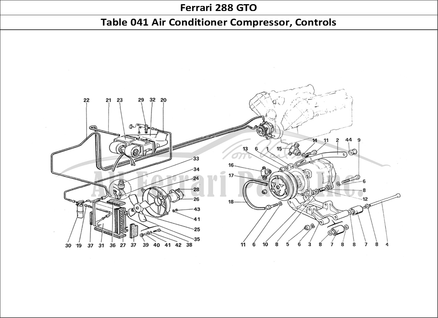 Buy Original Ferrari 288 Gto 041 Air Conditioner Compressor Controls Ferrari Parts Spares