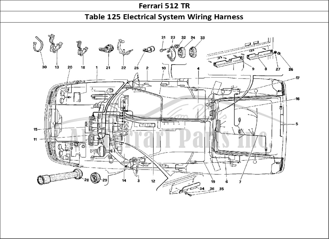 Wiring Harness Table