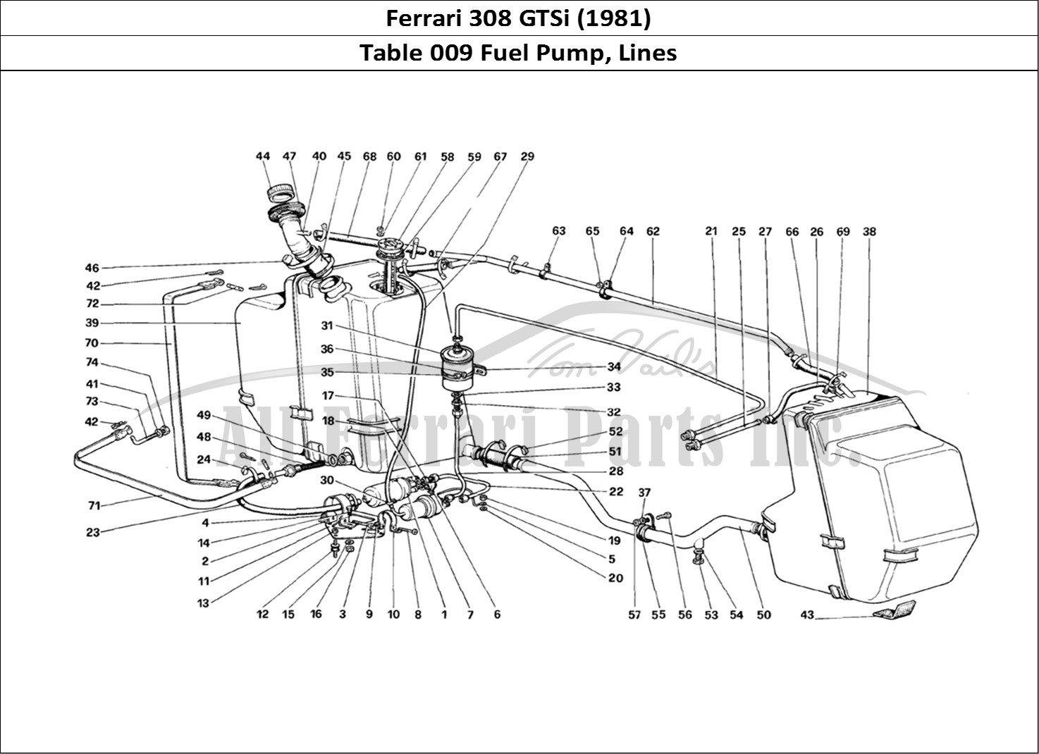 Buy Original Ferrari 308 Gtsi 009 Fuel Pump Lines