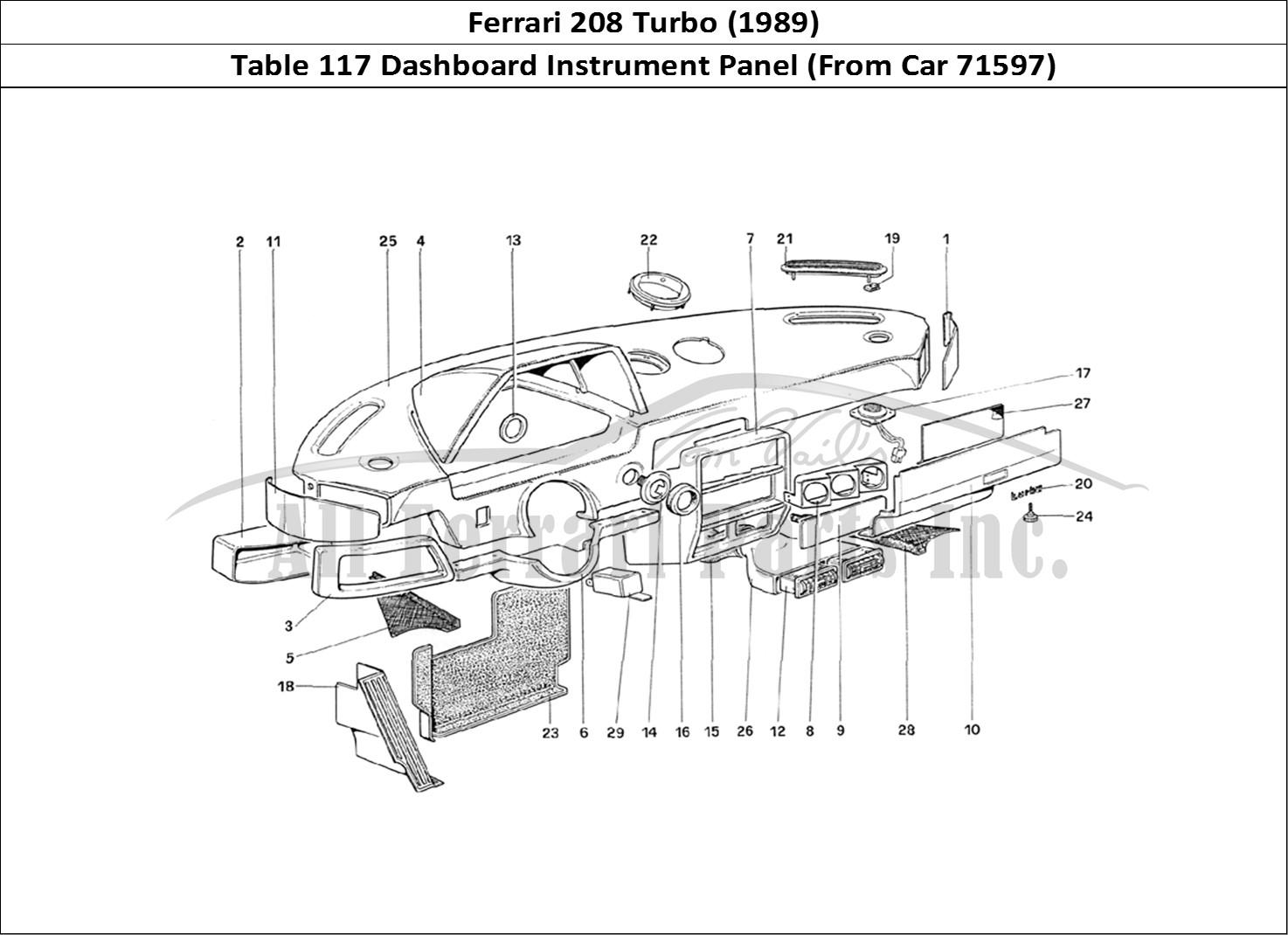Buy Original Ferrari 208 Turbo 117 Dashboard