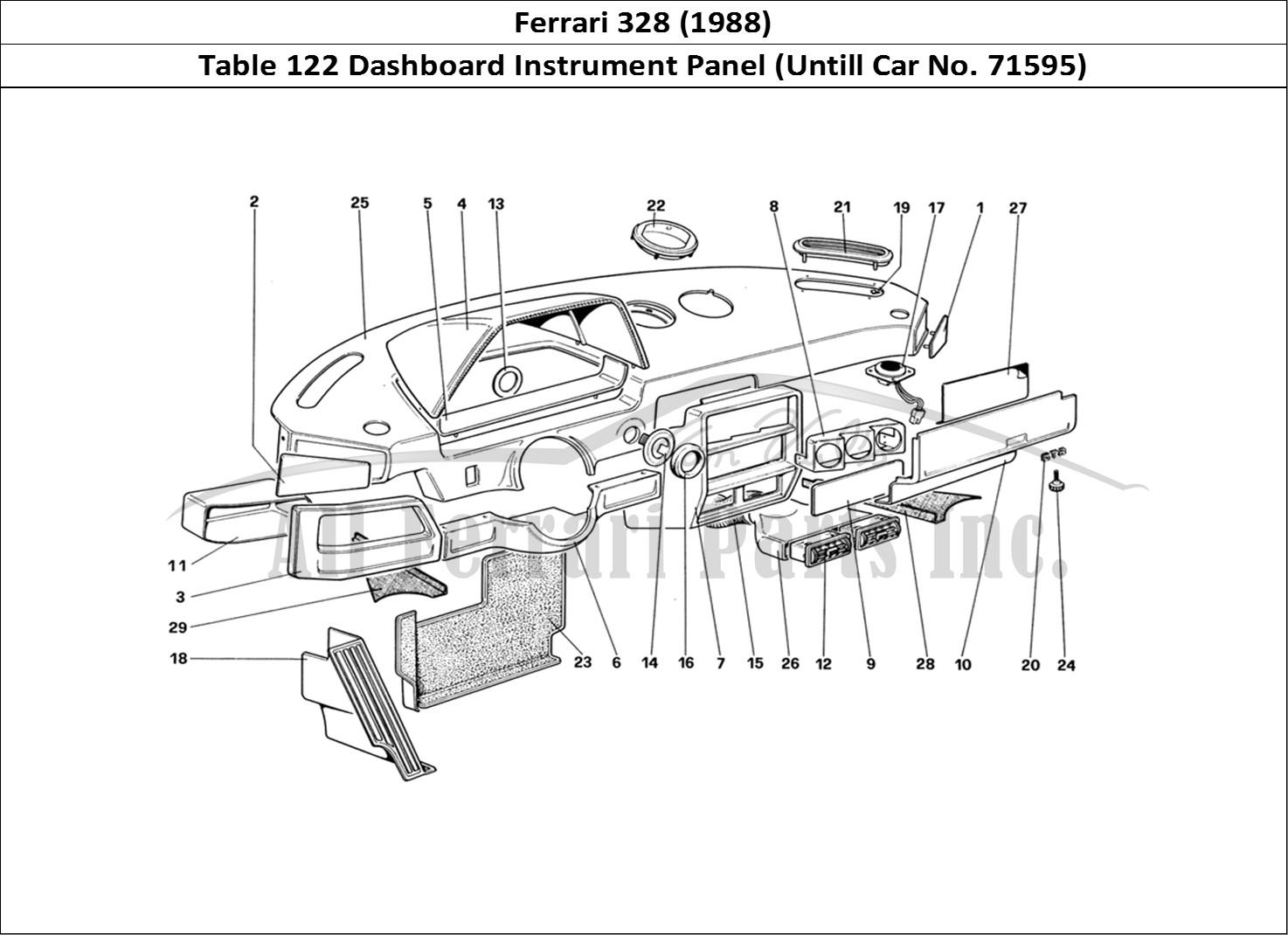 Buy Original Ferrari 328 122 Dashboard Instrument Panel Untill Car No Ferrari