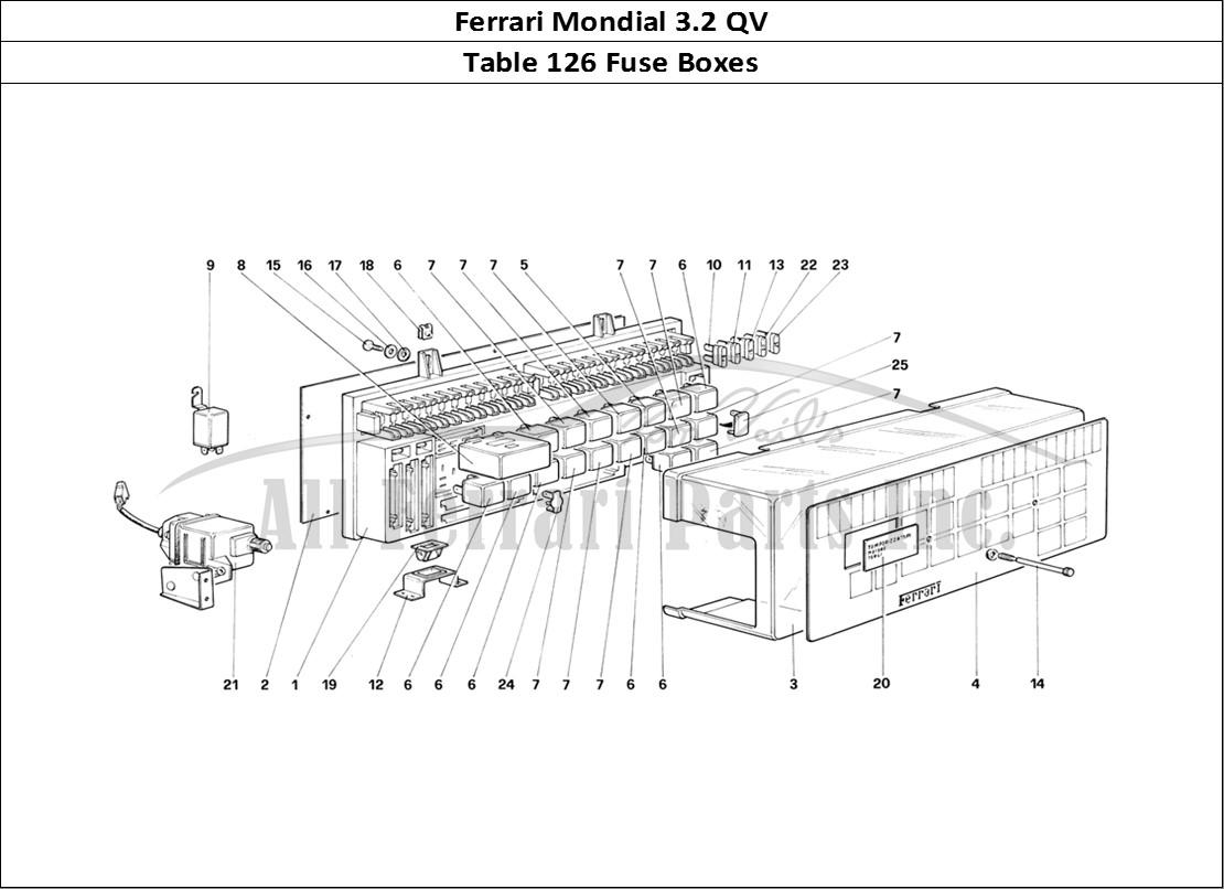Buy Original Ferrari Mondial 3 2 Qv 126 Fuse Boxes Ferrari