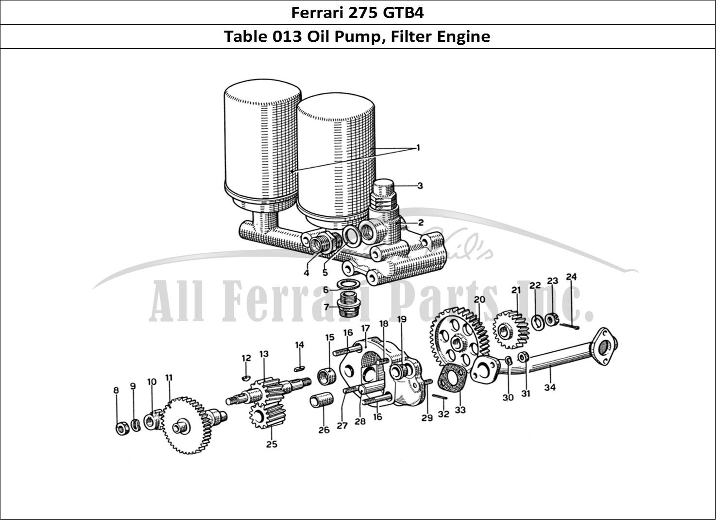 Buy Original Ferrari 275 Gtb4 013 Oil Pump Filter Engine