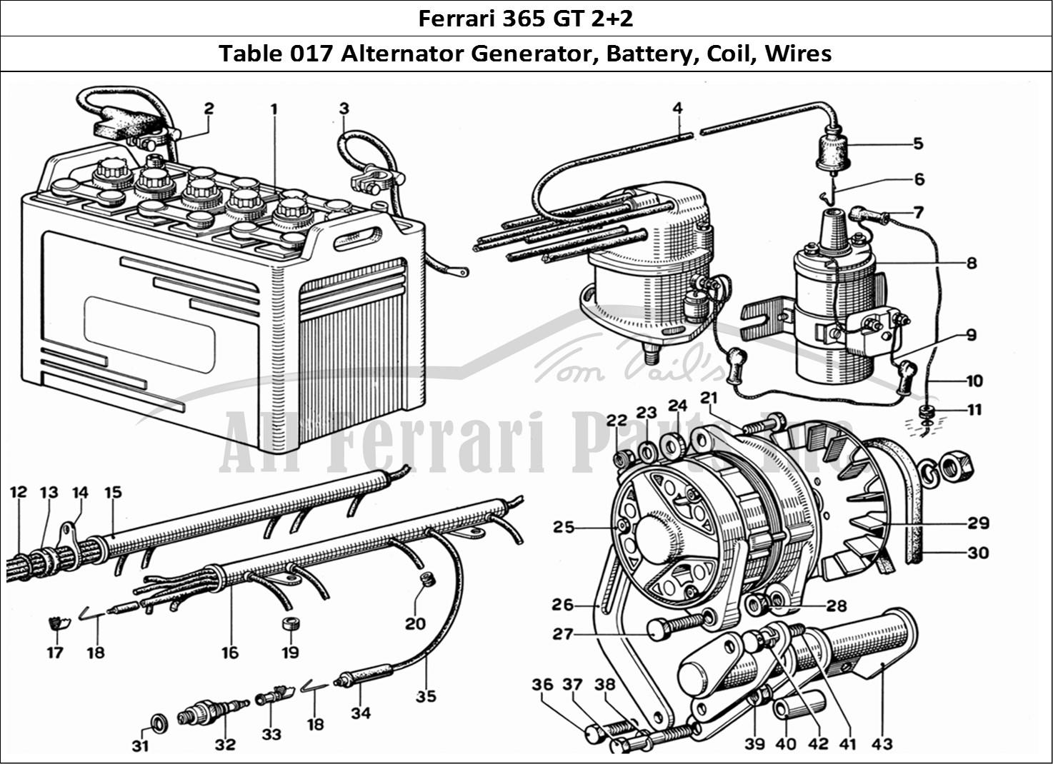 Buy Original Ferrari 365 Gt 2 2 017 Alternator Generator