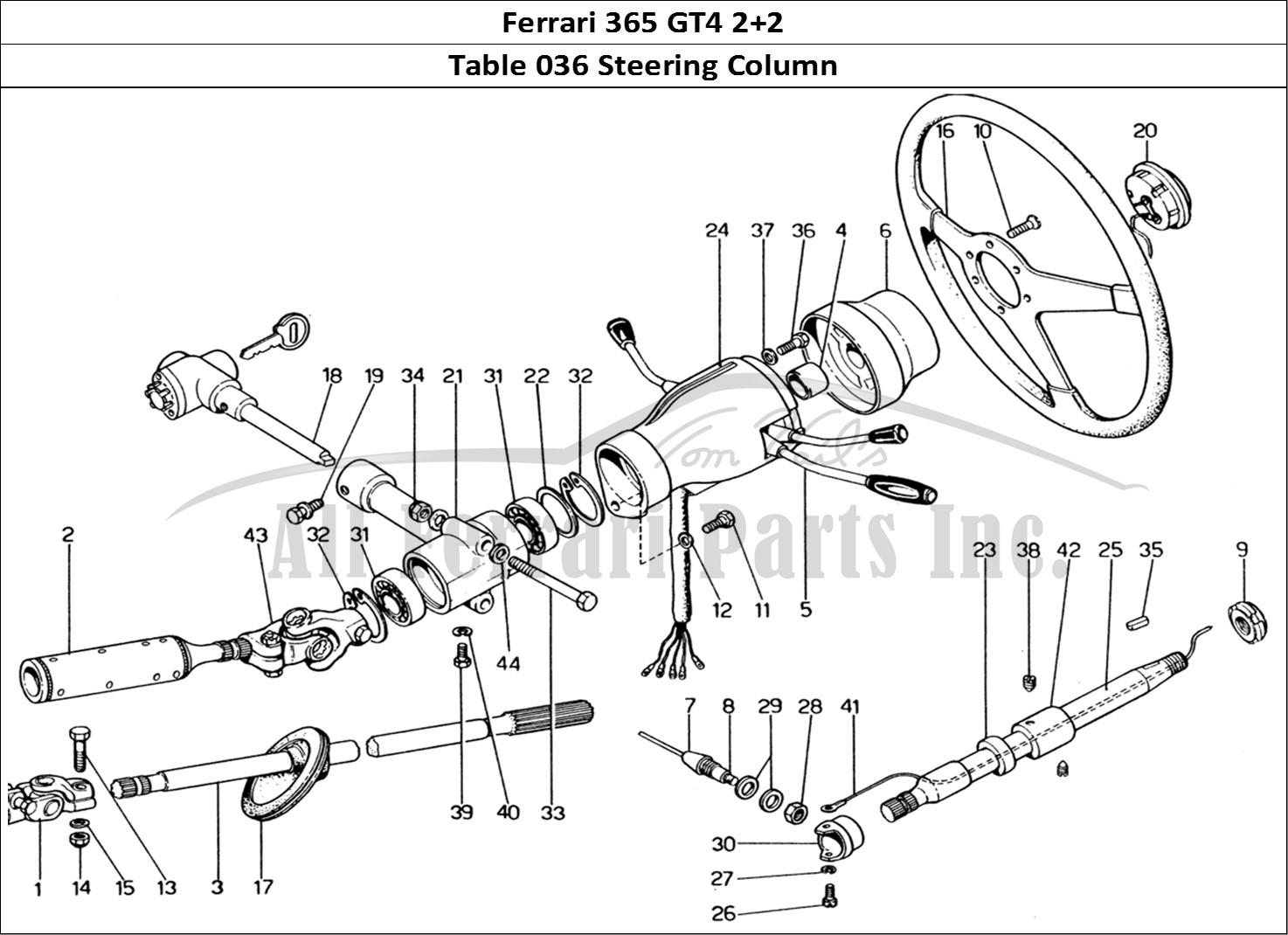 Buy Original Ferrari 365 Gt4 2 2 036 Steering Column Ferrari Parts Spares Accessories Online
