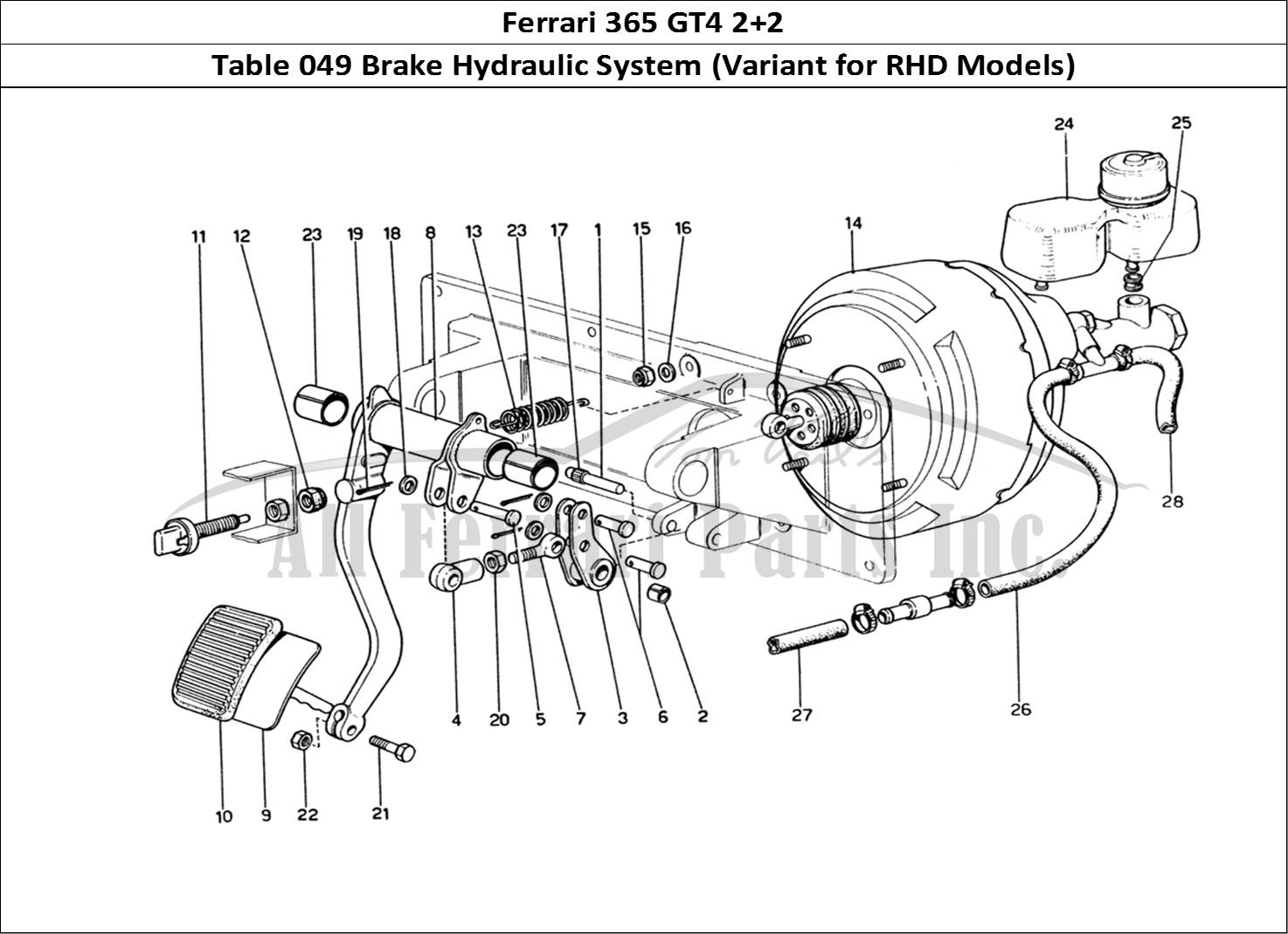 Buy Original Ferrari 365 Gt4 2 2 049 Brake Hydraulic System Variant For Rhd Models Ferrari