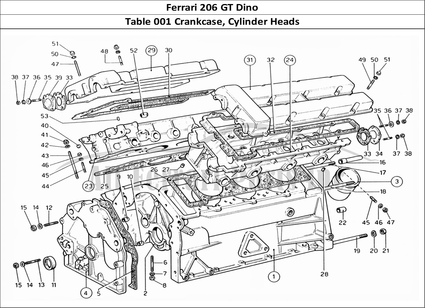 Buy Original Ferrari 206 Gt Dino 001 Crankcase Cylinder Heads Ferrari Parts Spares