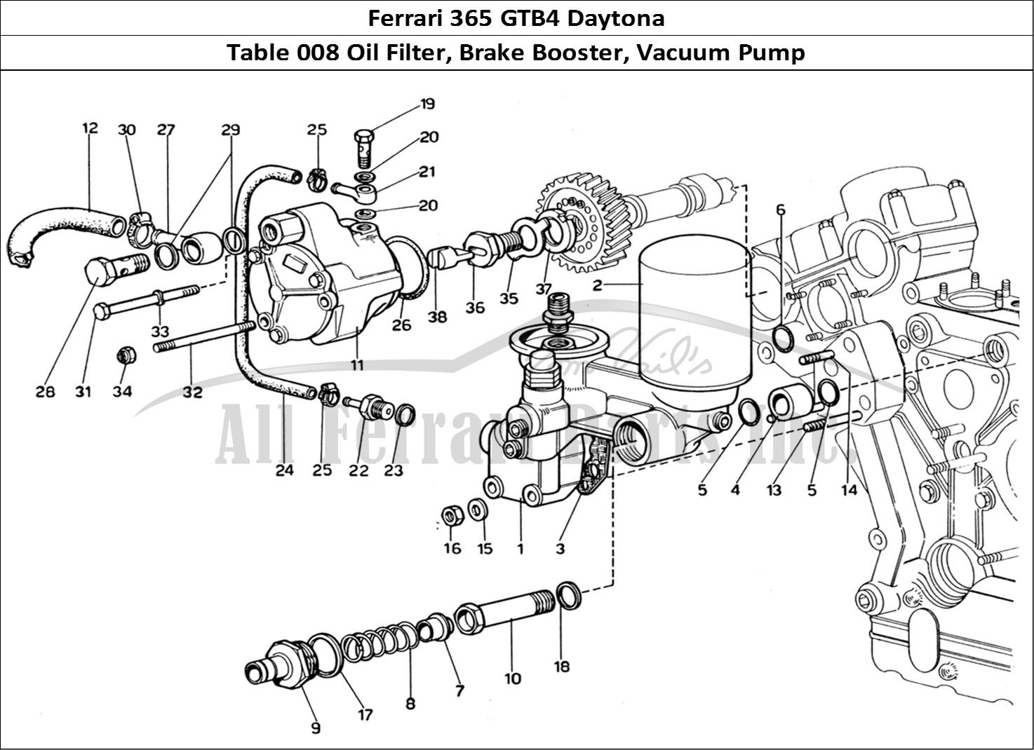 Buy Original Ferrari 365 Gtb4 Daytona 008 Oil Filter Brake Booster Vacuum Pump Ferrari Parts