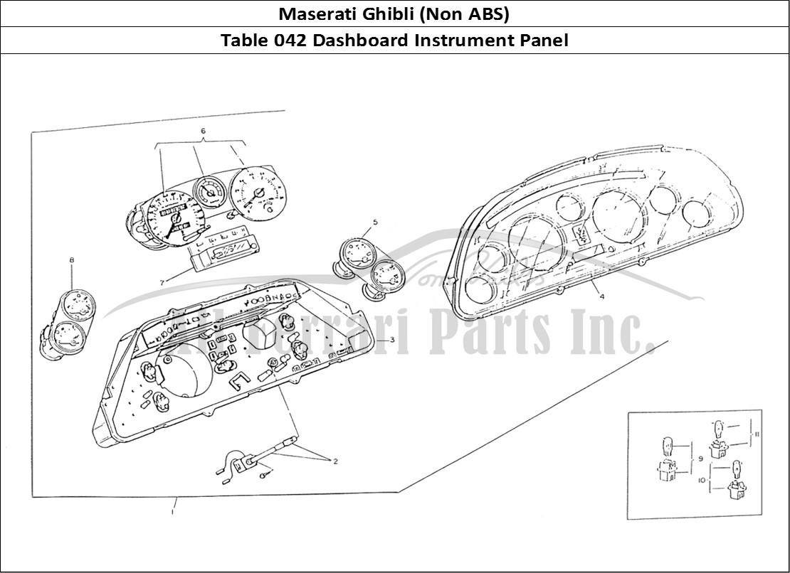 Buy Original Maserati Ghibli Non Abs 042 Dashboard Instrument Panel Ferrari Parts Spares