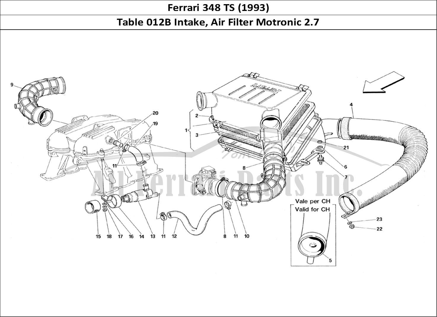 Buy Original Ferrari 348 Ts 012b Intake Air Filter