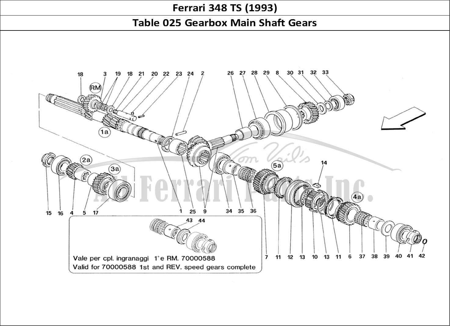Buy Original Ferrari 348 Ts 025 Gearbox Main Shaft