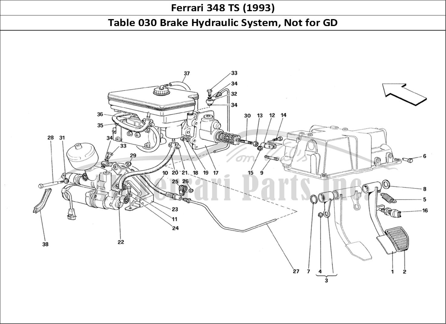 Buy Original Ferrari 348 Ts 030 Brake Hydraulic System Not For Gd Ferrari Parts Spares