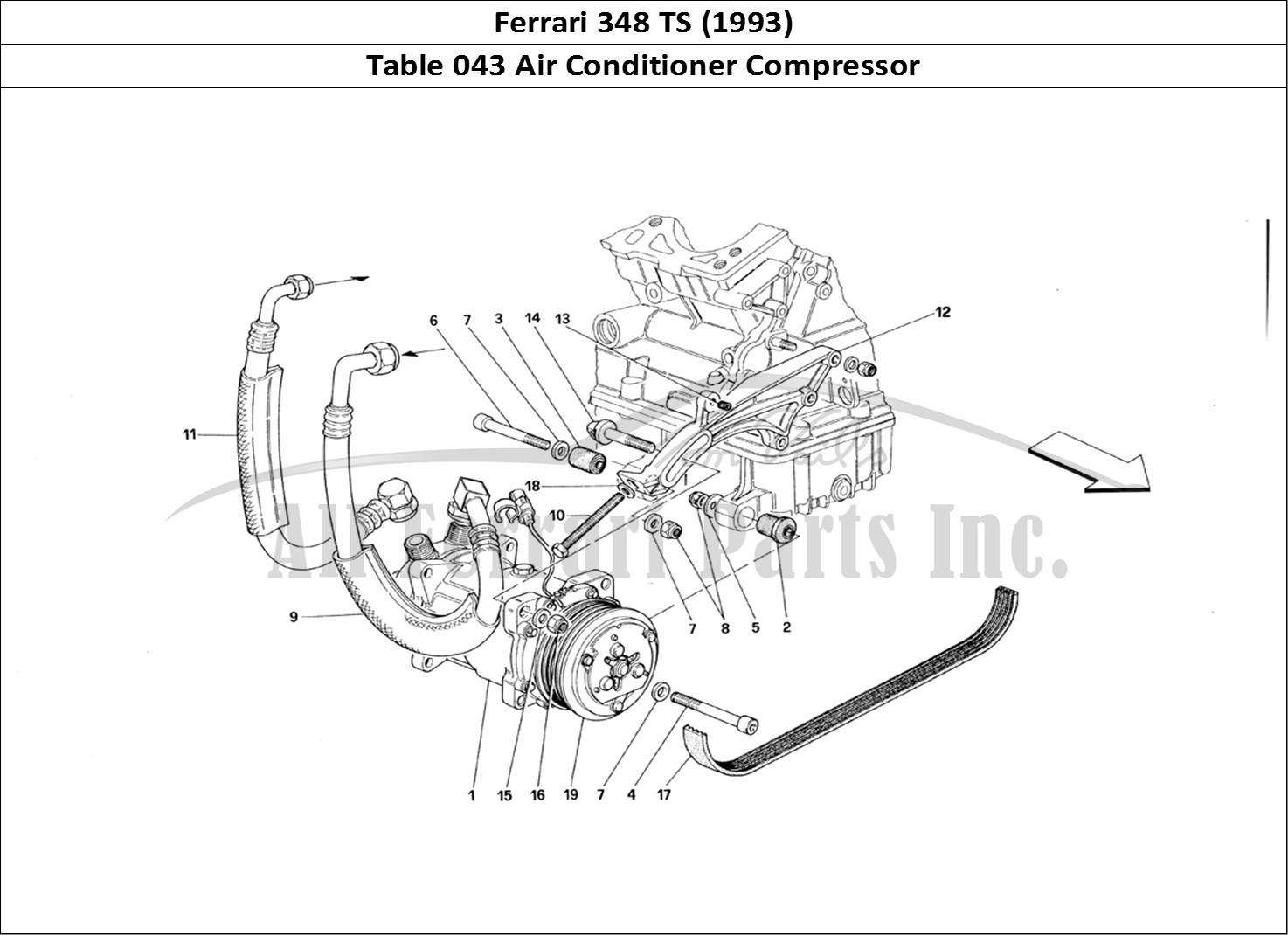Buy Original Ferrari 348 Ts 043 Air Conditioner Compressor Ferrari Parts Spares