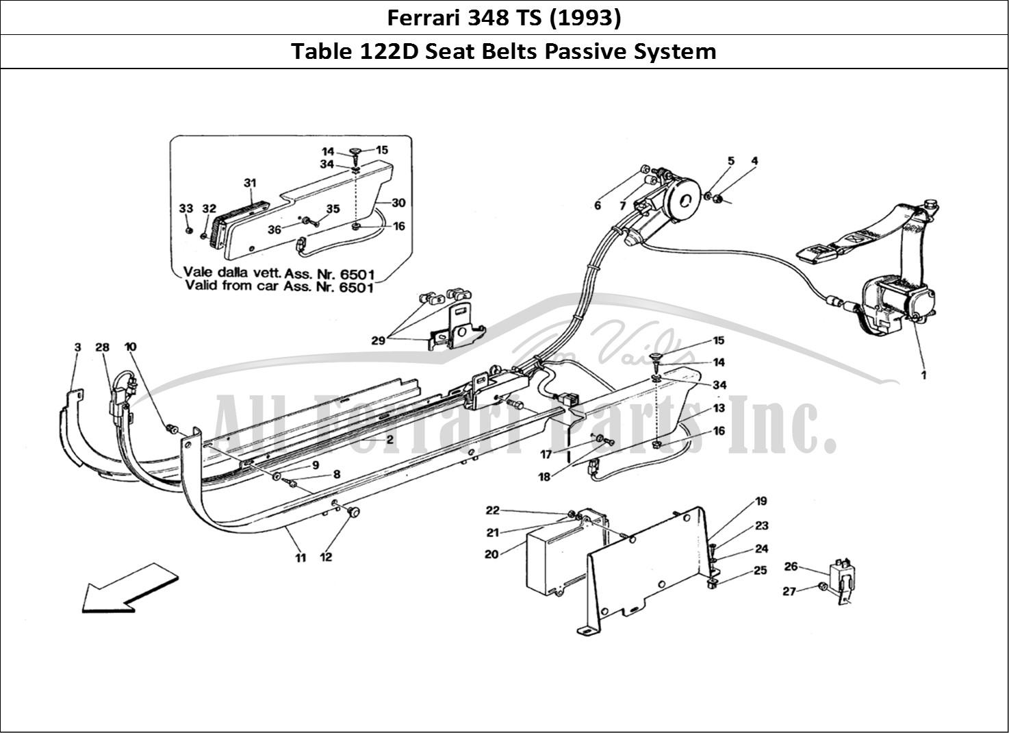Buy Original Ferrari 348 Ts 122d Seat Belts Passive System Ferrari Parts Spares