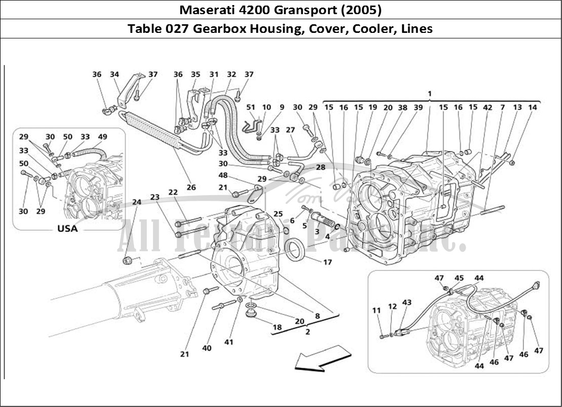 Buy Original Maserati Gransport 027 Gearbox Housing Cover Cooler Lines Ferrari