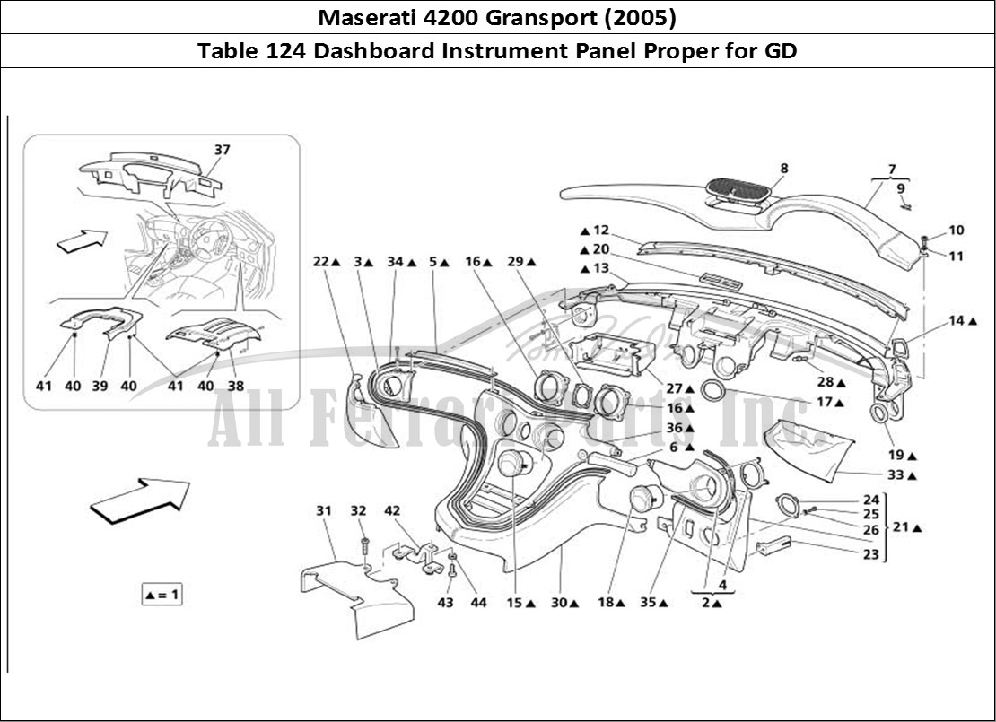 Buy Original Maserati Gransport 124 Dashboard