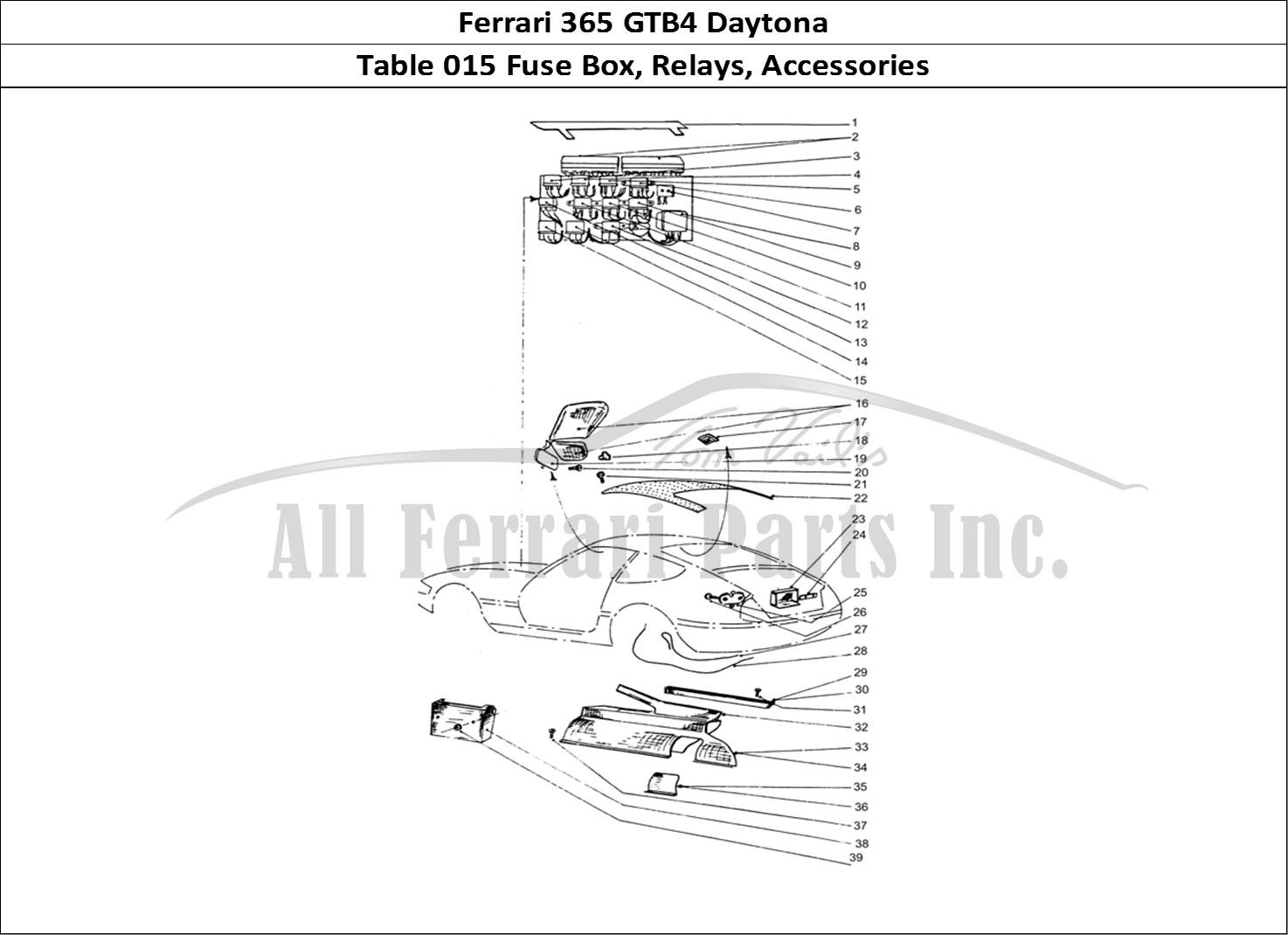 Buy Original Ferrari 365 Gtb4 Daytona 015 Fuse Box Relays