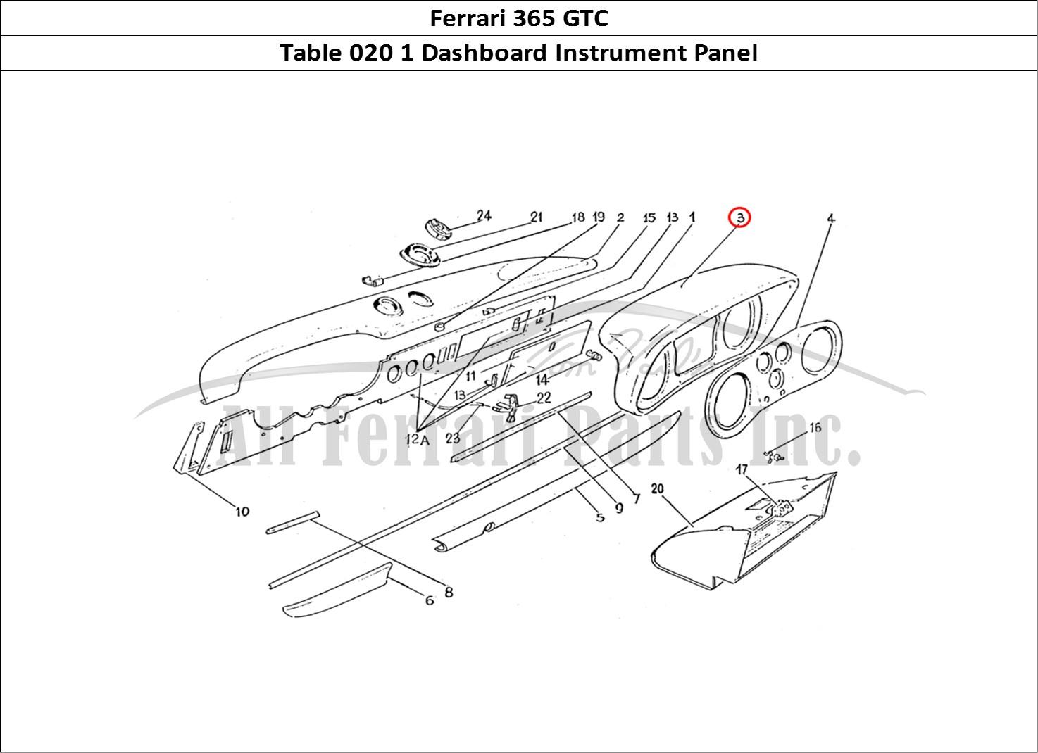 Buy Original Ferrari 365 Gtc 020 1 Dashboard Instrument