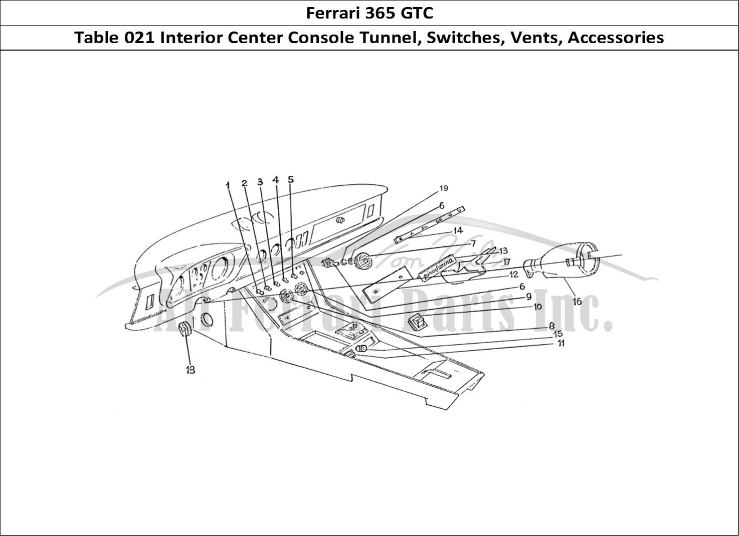 Buy Original Ferrari 365 Gtc 021 Interior Center Console