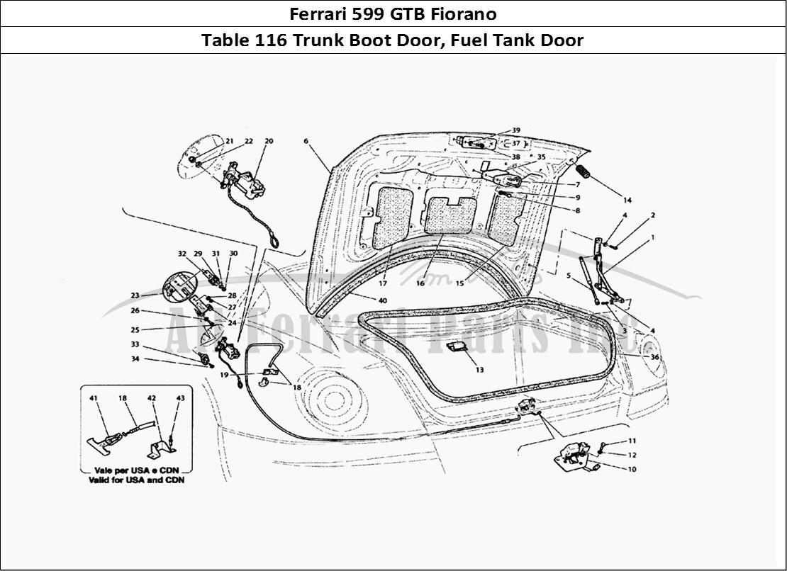 Buy Original Ferrari 599 Gtb Fiorano 116 Trunk Boot Door