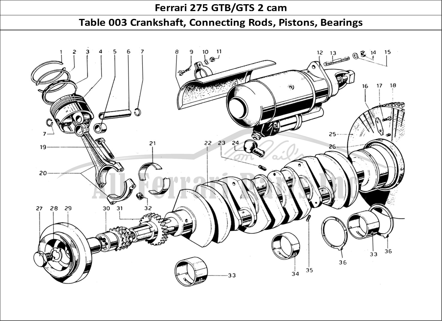 Buy Original Ferrari 275 Gtb Gts 2 Cam 003 Crankshaft