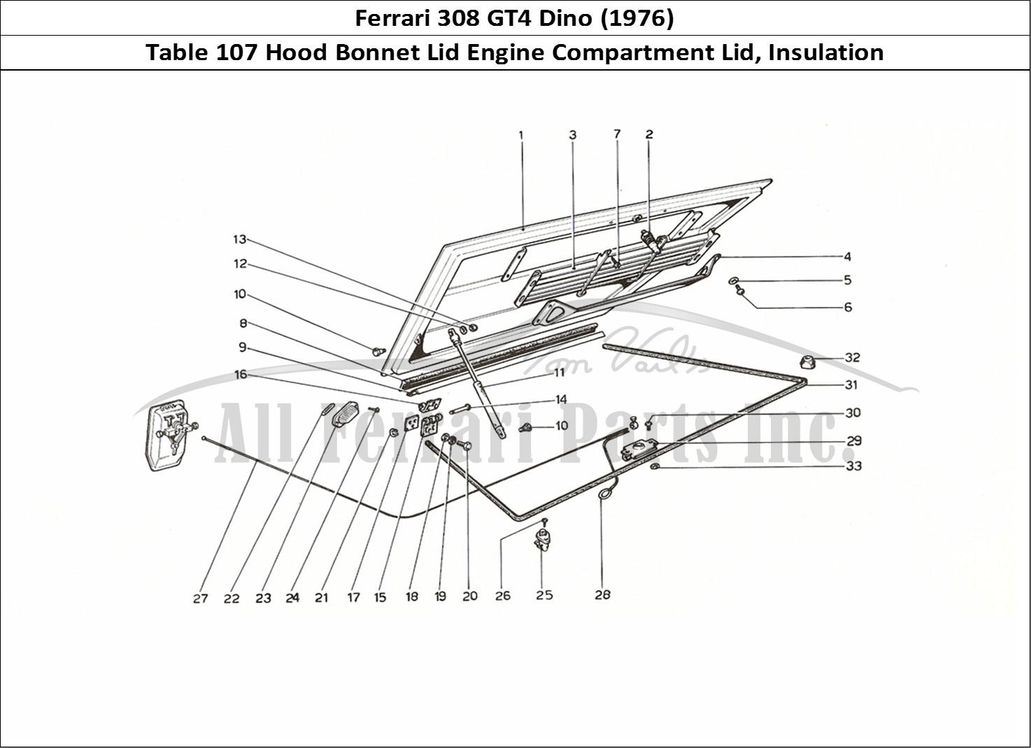 Buy Original Ferrari 308 Gt4 Dino 107 Hood Bonnet Lid Engine Compartment Lid Insulation