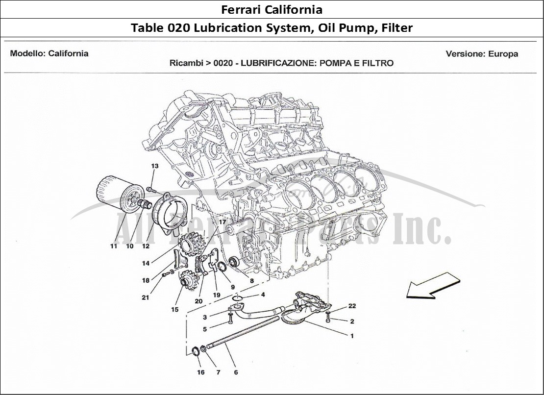 Buy Original Ferrari California 020 Lubrication System