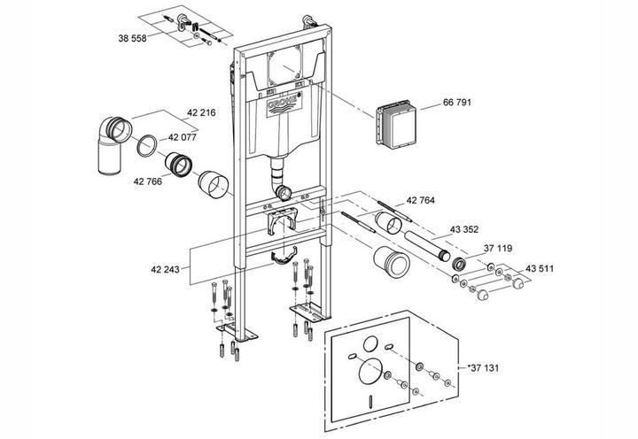 Grohe 42319000 Tube Capilaire Mecanisme De Chasse Av1