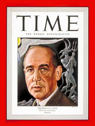 C. S. Lewis on the cover of Time.