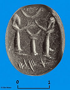 Seal Discovered by Dr. Eilat Mazar in City of David Excavation.
