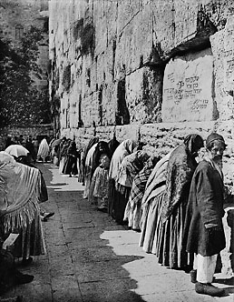 The Wailing Wall between 1900 and 1920. Matson Photograph Collection.