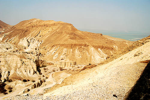 The wilderness of Judea at the south end of the Dead Sea. Photo by F. Jenkins.