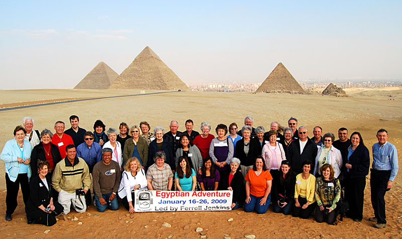 Egyptian Adventure Group at the Giza Pyramids.