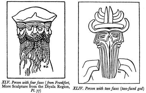 Drawings from Parrot, Babylon and the Old Testament.
