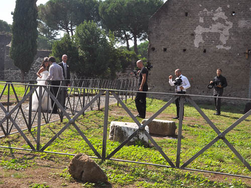Wedding photography on the Appian Way. Photo by Ferrell Jenkins.