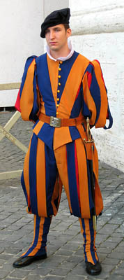 Swiss Guard at the Vatican. Photo by Ferrell Jenkins.