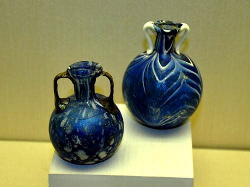 Free-blown perfume bottles from 1st century A.D. Photo by Ferrell Jenkins 2009.