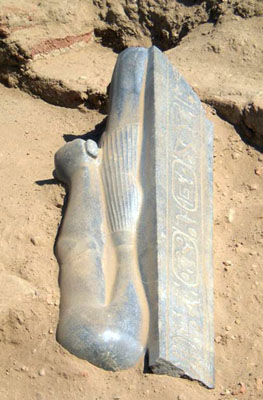 Taharqa statue. Photo: Berber-Abidiya Archaeological Project.
