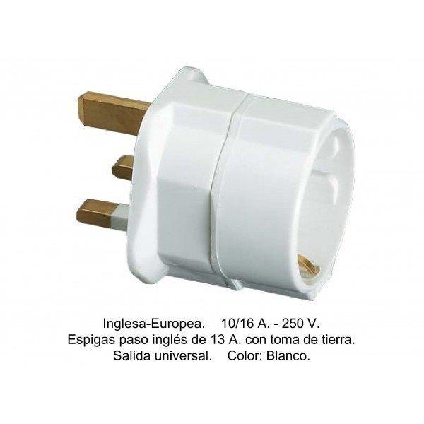CLAVIJA TRANSFORMACION INGLESA-EUROPEA 10-16A MAX 3680W