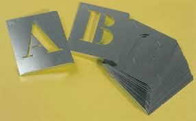 abecedario pintar aluminio 60mm a-z
