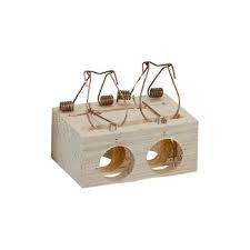 trampa madera 2 agujeros pequeña